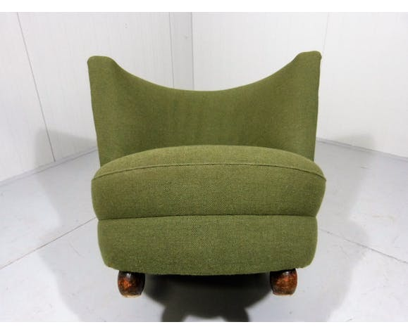1930-40's side chair green