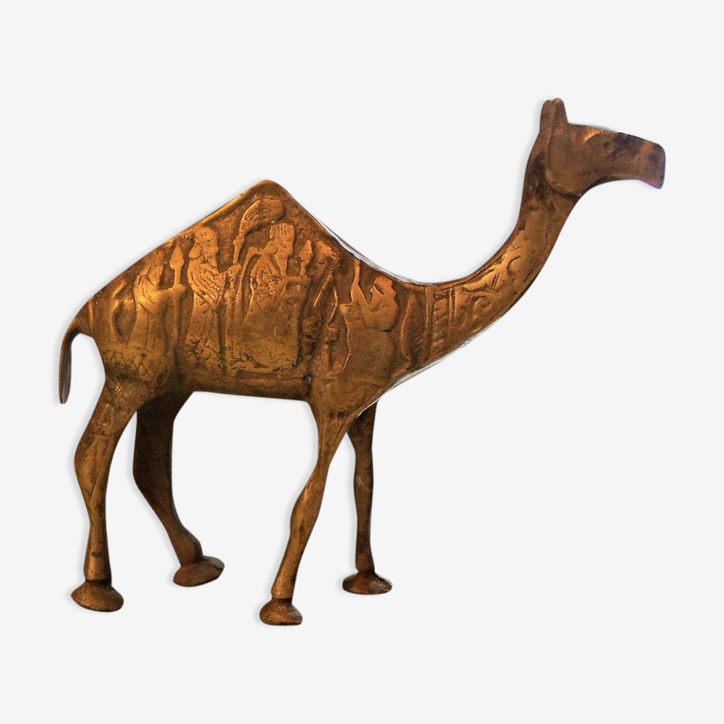 Dromadaire animal bronze déco ethnique