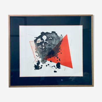 Lithographie contemporaine 2016 - Art abstrait