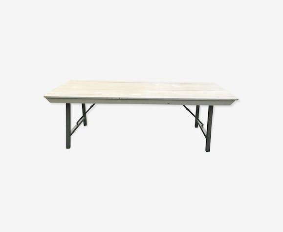 Table Pliante En Bois Et Fer Bois Matériau Bois Couleur
