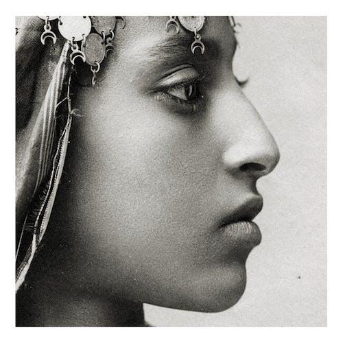 Portrait de profil d'une femme maure Algérie XIXème siècle
