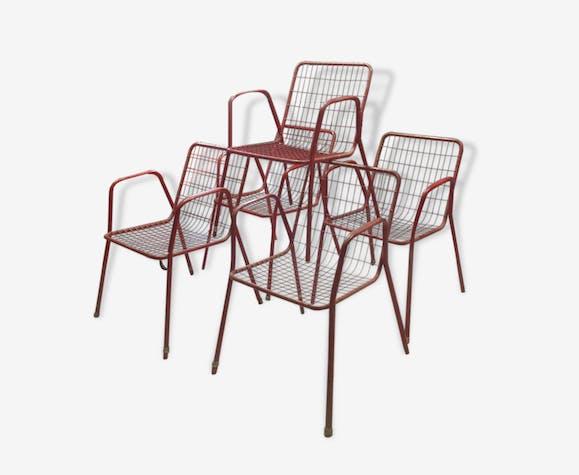 Lot de Chaise de jardin RIO ÉMU - metal - red - design - 110223