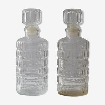 Chiseled glass carafes