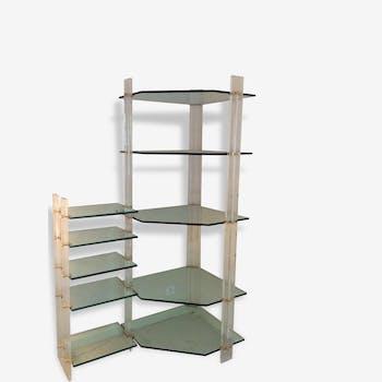 biblioth que par franco albini bois mat riau bois couleur design cbe03bz. Black Bedroom Furniture Sets. Home Design Ideas