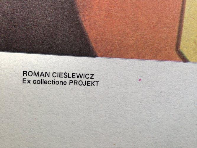 Affiche originale d'une exposition de l'art de Roman Cieslewicz «Photomontages» à Grenoble, 1980