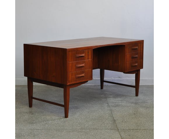 Danish teak writting desk, 1950