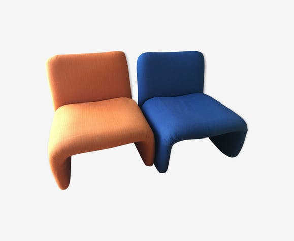 Pair of low chairs typical years 70