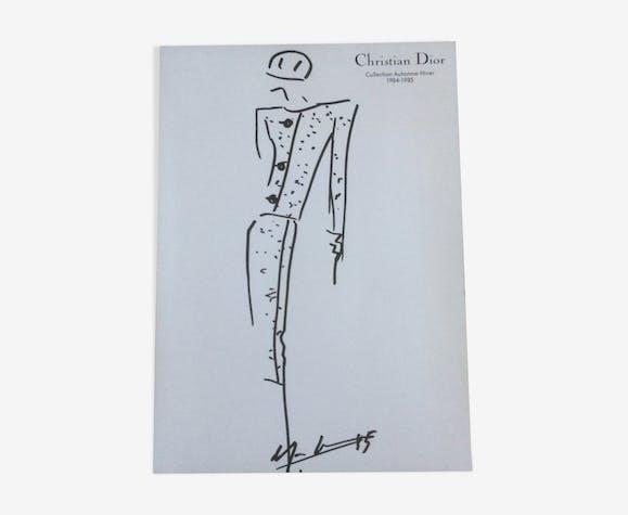 Press fashion sketch with a press photograph 1980