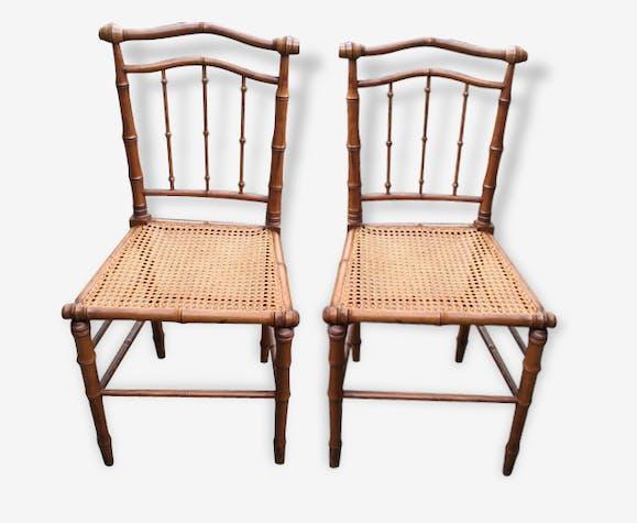 L'imitation Boismatériau De Bambou Paire Chaises À qSzUVpMG