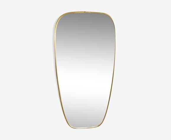 Miroir rétroviseur asymétrique laiton 60x31cm