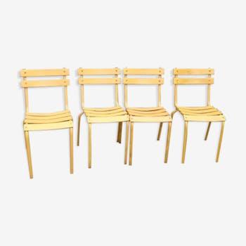 Lot de 4 chaises Tolix