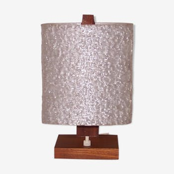 Lampe scandinave en teck années 60