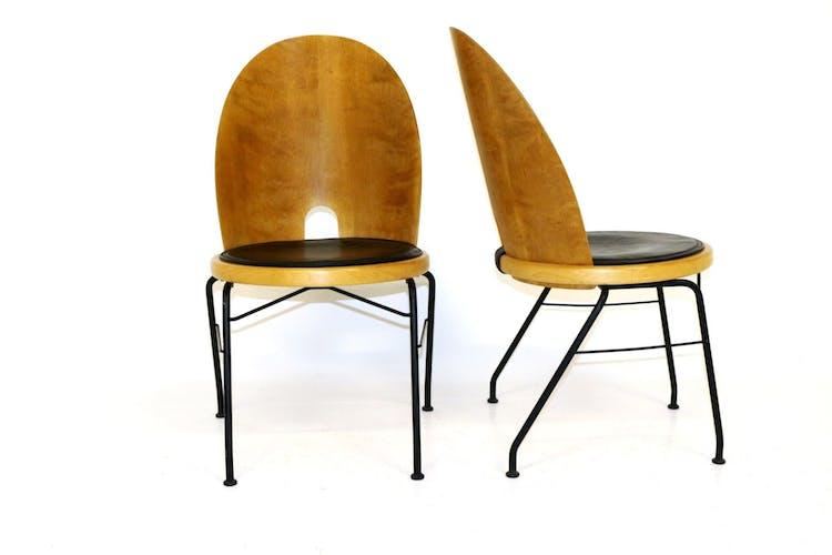 """Paire de chaises """"Oblado"""", Börge Lindau, Suède, 1950"""