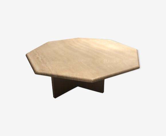 Table Basse Roche Bobois Marbre Beige Vintage X6329ww
