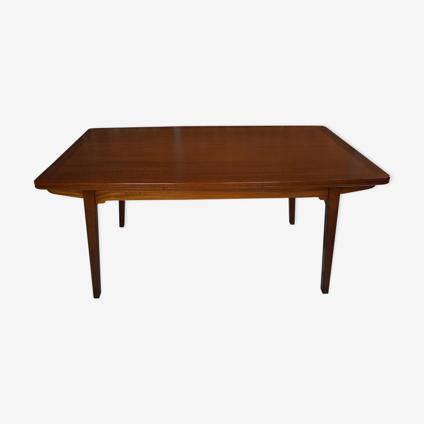 Table en teck des années 50 design par Jos De Mey pour Van Der Berghe