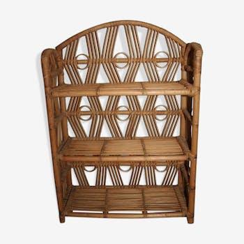 Shelf rattan bamboo vintage