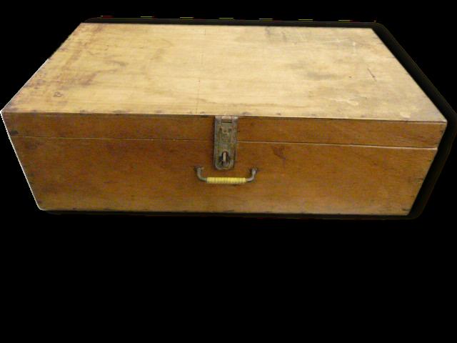 valise en bois Ancienne valise bois - bois (Matériau) - marron - art déco - 109465