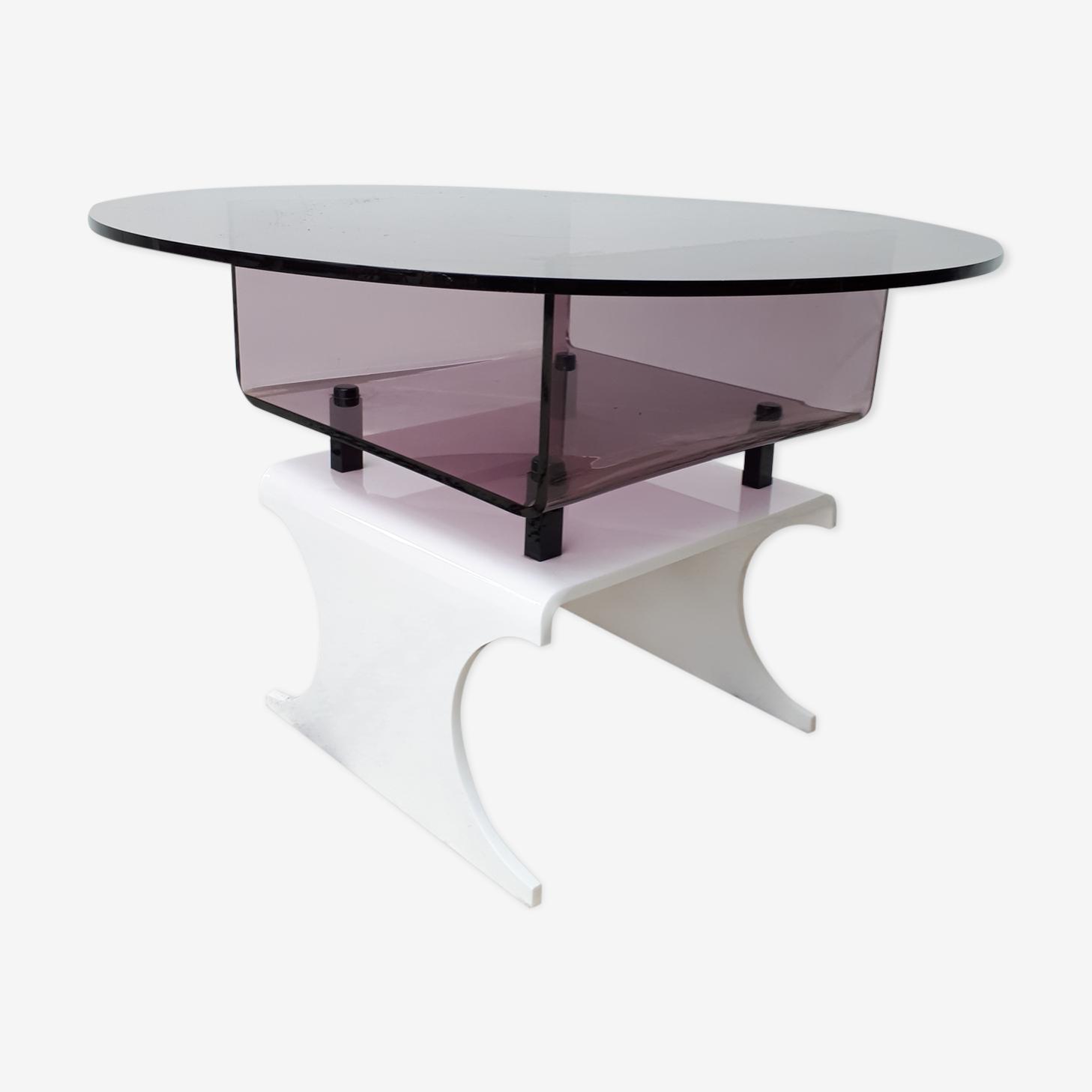Table basse en altugas design années 70