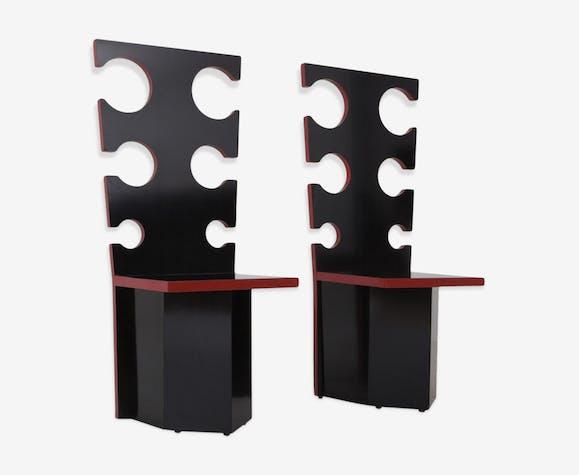 Chaises design Max Papiri pour Mario Sabot 1970