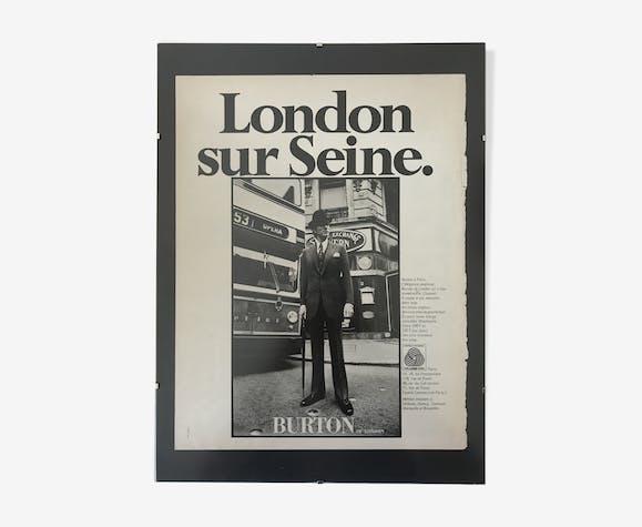 Affiche publicitaire Burton années 50