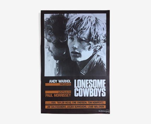 "Affiche cinéma ""Lonesome Cowboys"" Andy Warhol 52x78cm"