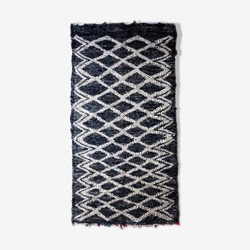 Blue double-sided rug 110x220cm
