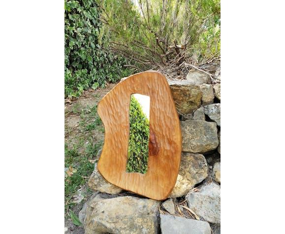 Miroir en bois 1970 - 51x37cm