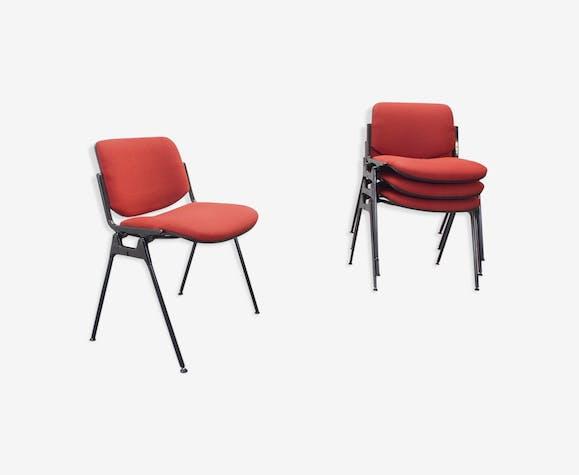 Lot de 4 chaises de DSC 106 par Giancarlo Piretti pour Castelli