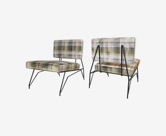 Paire de fauteuils par Cerruti Italie années 1950