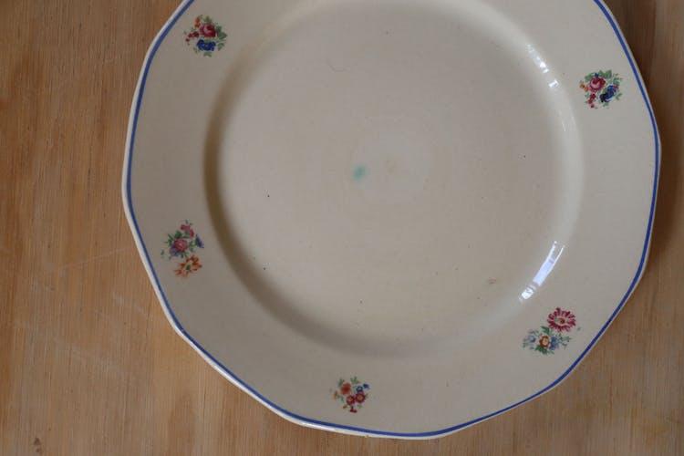 Service à dessert Badonviller vintage assiette et plat