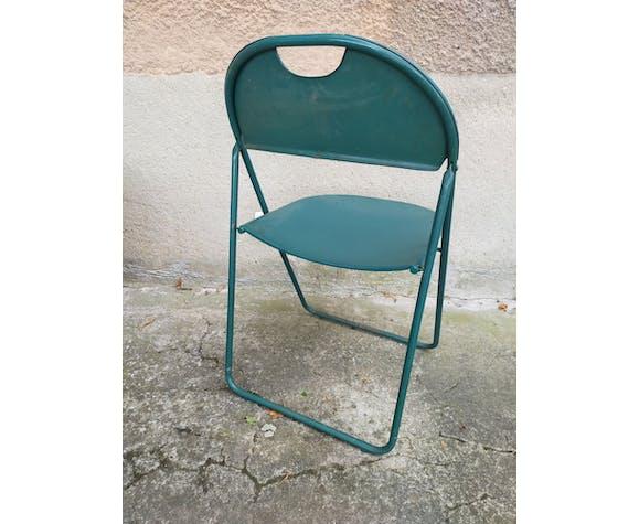 Lot de 4 chaises pliantes en fer