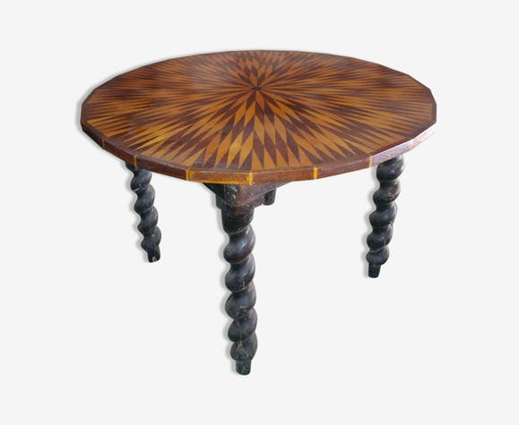 Table basse marquetterie
