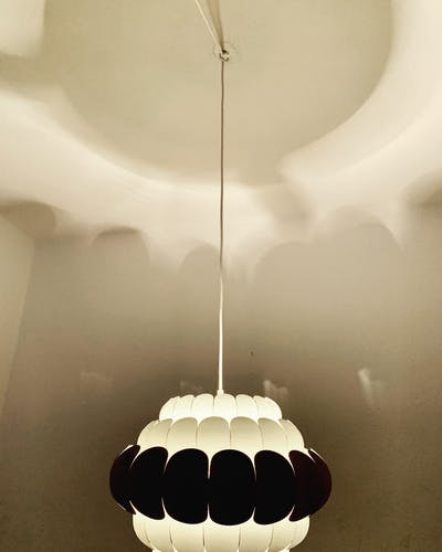 Modern metal hanging lamp by Thorsten Orrling