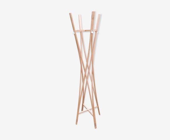 Porte-manteau scandinave en bois 165x35cm