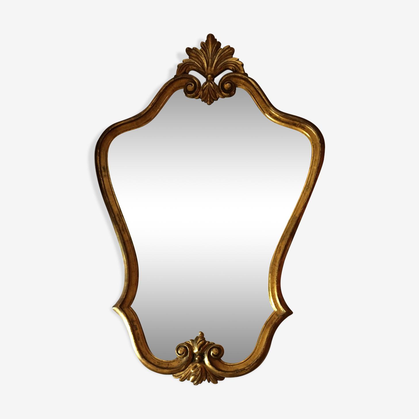 Miroir en bois doré 90x60cm
