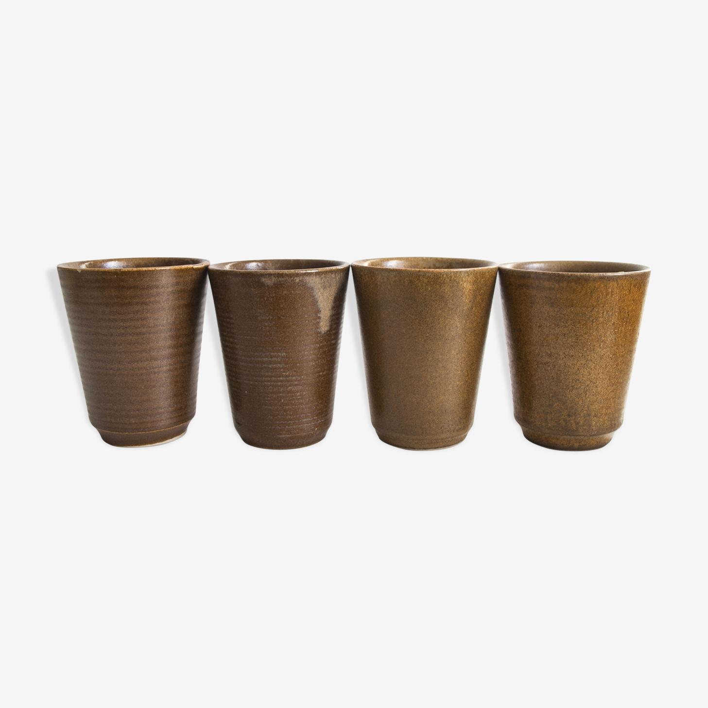 Tasses en grès Manufacture de Digoin