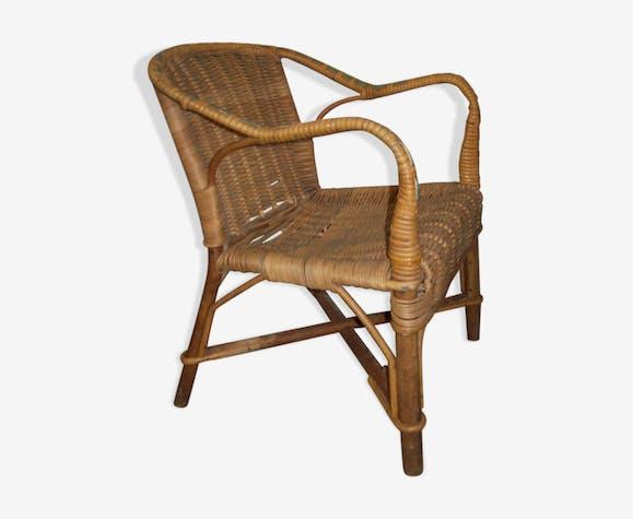 Wicker child armchair