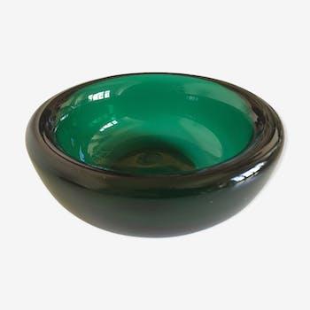 Vide poche en verre soufflé taillé années 50 Murano