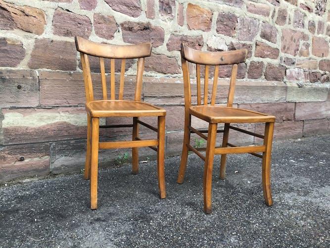 2 chaises bistrot Baumann