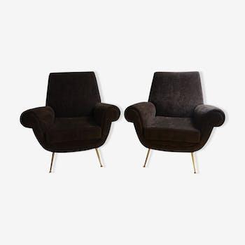 Pair of chairs Gigi Radice of the 1950s