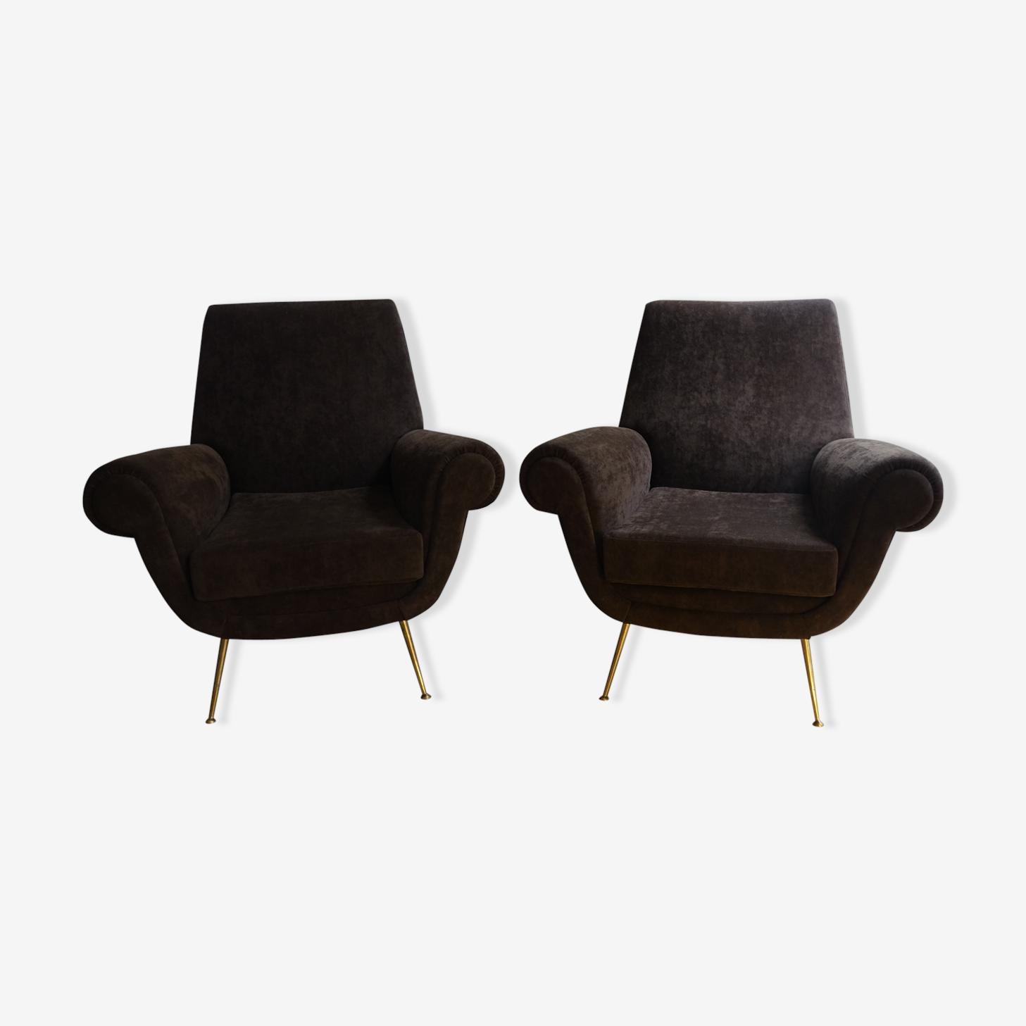 Paire de fauteuils Gigi Radice des années 50