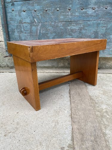 1960 Angel Pazmino leather bedside table