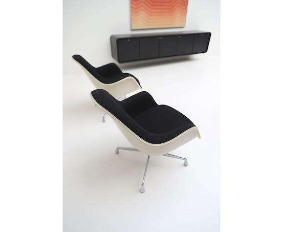 Paire de fauteuils pivotants EC175-8 par Charles et Ray Eames pour Herman Miller