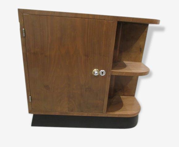 petit meuble bar d 39 angle buffet art d co bois mat riau. Black Bedroom Furniture Sets. Home Design Ideas