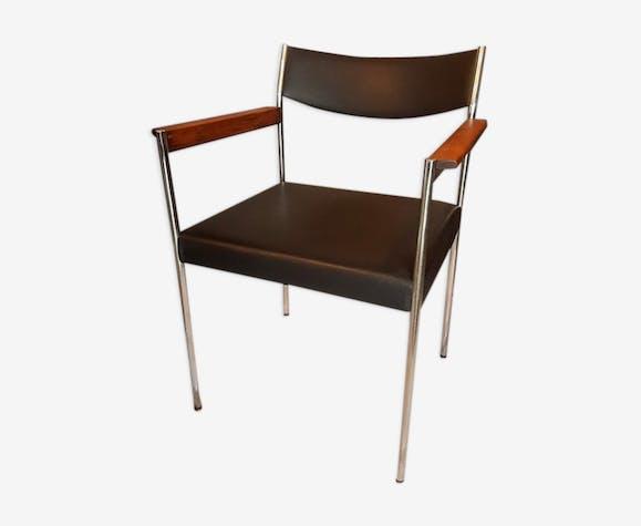 Fauteuil bureau en simili cuir leatherette black vintage qafqnnd