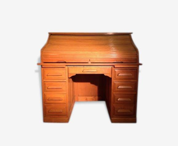 bureau am ricain rouleau en ch ne d but xxe si cle american oak rolltop desk bois. Black Bedroom Furniture Sets. Home Design Ideas