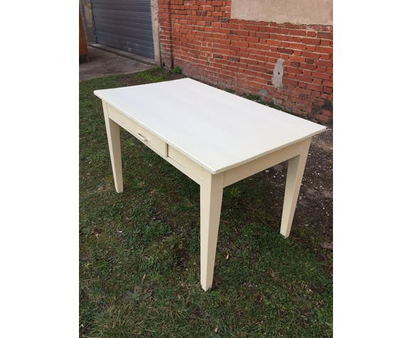 Table Peinte En Blanc Casse Selency