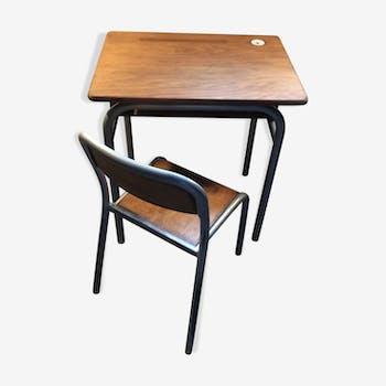 Mobilier et d coration pour chambre d 39 enfant vintage d - Petit bureau ecolier en bois ...