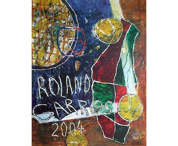 Affiche officielle Roland Garros 2004 par Daniel Humair