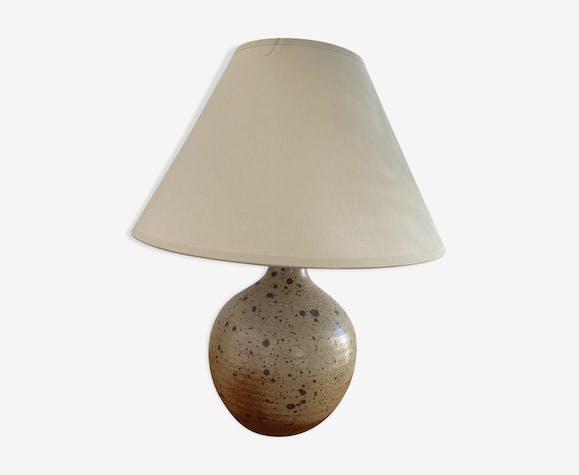 Lampe boule en grès moucheté